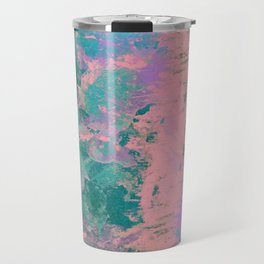 Pink and Green Paint Travel Mug
