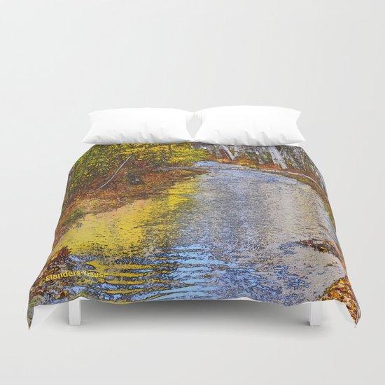Autumn Stream - Watercolor Duvet Cover