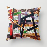 ruben ireland Throw Pillows featuring Ruben (stripes 19) by Wayne Edson Bryan