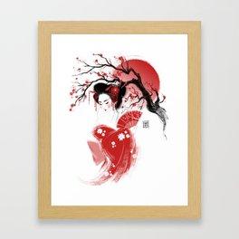 Red Geisha Framed Art Print