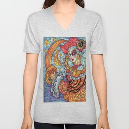 A Pirate at Carnevale Unisex V-Neck