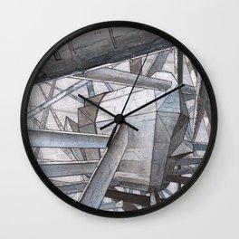 The Mnemoplex - nano carbone cristal based city Wall Clock
