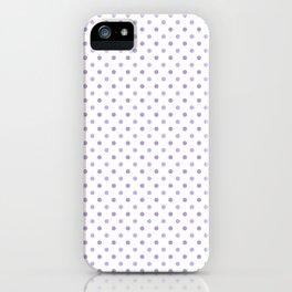 Modern lavender lilac trendy polka dots pattern iPhone Case