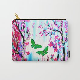 Cherry Blossoms and Butterflies Carry-All Pouch