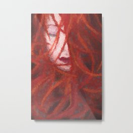 Red by Brian Vegas Metal Print