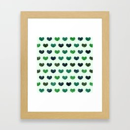 Cute Hearts VI Framed Art Print