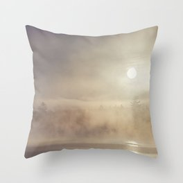rising mist Throw Pillow