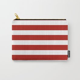 Red & White Maritime Stripes- Mix & Match with Simplicity of Life Carry-All Pouch