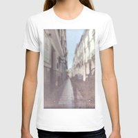 spain T-shirts featuring Madrid, Spain by Jane Lacey Smith