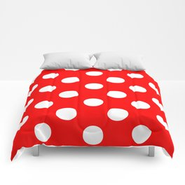 Polka Dots (White/Red) Comforters