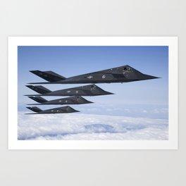Lockheed F-117 Nighthawk Art Print