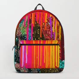 Peacock Mermaid SUNSET Abstract Geometric Backpack