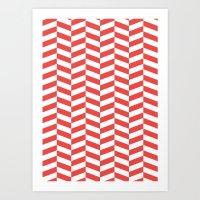 herringbone Art Prints featuring Herringbone. by Jake  Williams