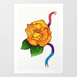 Pride Flowers: The Freddy Mercury Rose Art Print