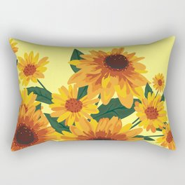 September Garden. Yellow flowers Rectangular Pillow