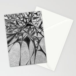 Panic with White Scribbles Stationery Cards