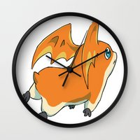digimon Wall Clocks featuring Patamon by Jelecy