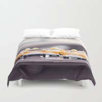 taxi driver Duvet Covers featuring Taxi! by semi sweet studios