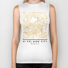 HI CHI MINH CITY STREET MAP ART Biker Tank