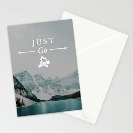 Just Go - Moraine Lake Stationery Cards
