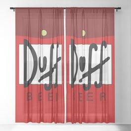 Duff Beer Logo Red Sheer Curtain