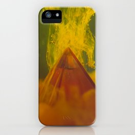 Pyramid with Orange Clouds iPhone Case