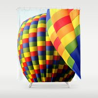 balloons Shower Curtains featuring Balloons  by Rob Hawkins Photography