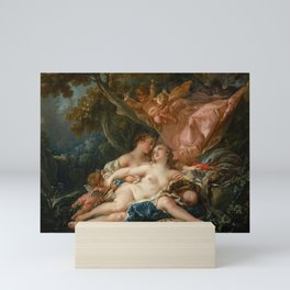 """François Boucher """"Jupiter and Callisto (The Nymph Callisto Seduced by Jupiter in the Guise of Diana) Mini Art Print"""