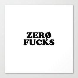 zero f Canvas Print