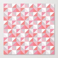 Peach Geometric; Canvas Print