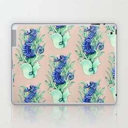 Blue Sea Horse Laptop & iPad Skin