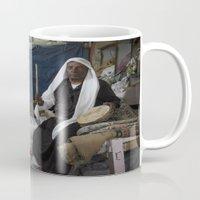 ali gulec Mugs featuring Abu Ali by Michael Bou-Nacklie