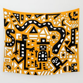 2D Garden (Bumble Bee Edition) Wall Tapestry