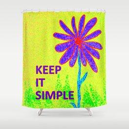 Wildflower Keep It Simple Shower Curtain