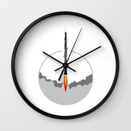 Oboe rocket Wall Clock