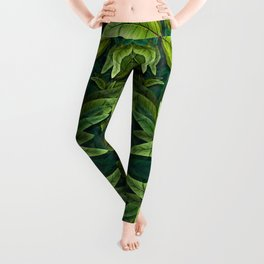"""Retro Tropical Tiki Fantasy 02"" Leggings"