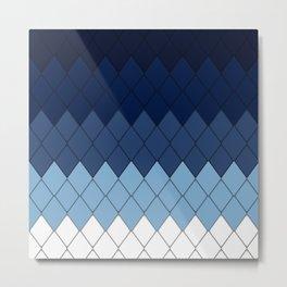 Blue rombs Metal Print