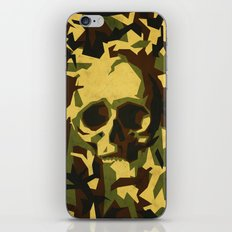 Camouflage skull iPhone & iPod Skin