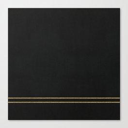 Black Velvet with Gold Lines Canvas Print