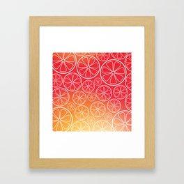 Citrus slices (red/orange) Framed Art Print
