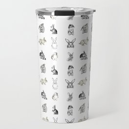 Vintage Bunny Rabbit Pattern Travel Mug