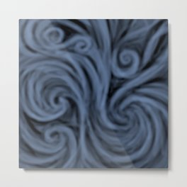dark blue swirl Metal Print