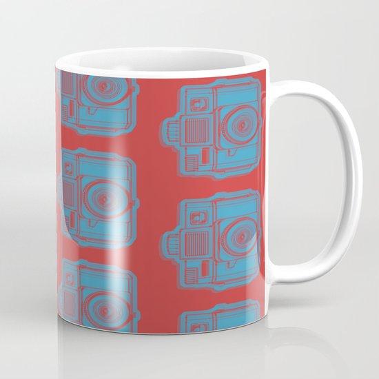 I Still Shoot Film Holga Logo - Red & Blue Mug