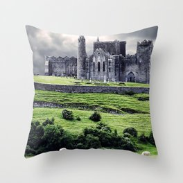 World Popular Historic The Rock Of Cashel Castle County Tipperary Ireland Europe Ultra HD Throw Pillow