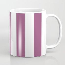 Sugar Plum violet - solid color - white vertical lines pattern Coffee Mug
