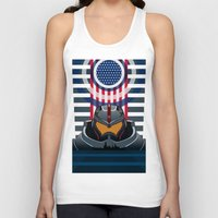 pacific rim Tank Tops featuring Pacific Rim v2 by milanova