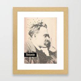 Inspired By Words — Frederich Nietzsche  Framed Art Print