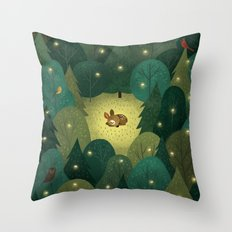 Enchanted Forest Baby Throw Pillow