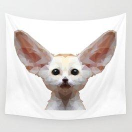 Geometrical Polygon Exotic Pet Fennec Fox Wall Tapestry