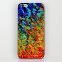 COLLISION COURSE - Bold Rainbow Splash Bricks Urban Jungle Ocean Waves Nature City Acrylic Painting iPhone Skin
